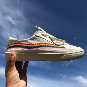 embroidered rainbow soludos sneakers